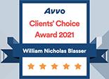 Avvo Clients' Choice Award 2021 William Nicholas Blasser