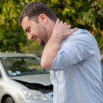 Man suffering Whiplash