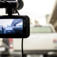 The image of camera on dashboard of car
