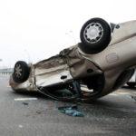 Car flips over