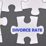 Puzzle that reads divorce rate