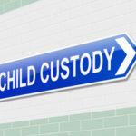 Blue child custody sign