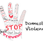 Hand that reads stop Domestic Violence